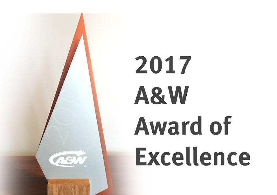 A&W Supplier Award of Excellence