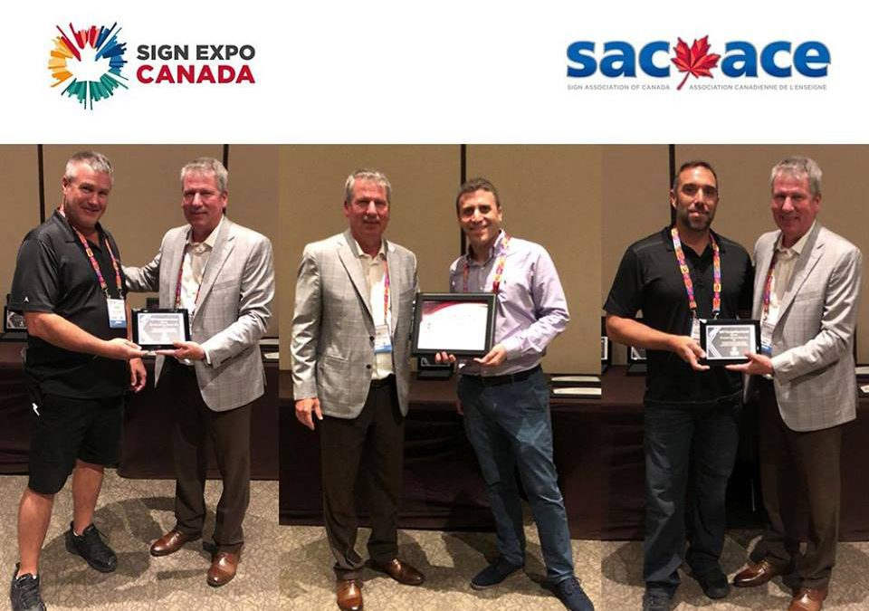 Installation Network Recognition Awards at the 2018 SAC ACE show